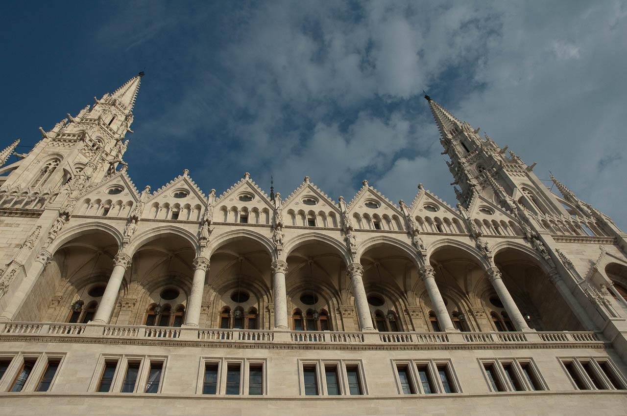 Close up of Parliament, Budapest
