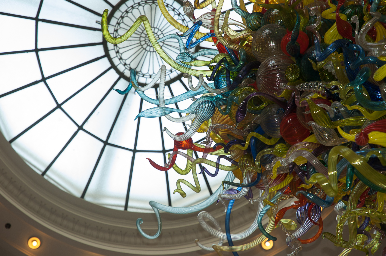 Chihuly Glass at Tacoma Train Station