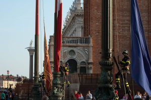 Flags at St Marks Square, Venice